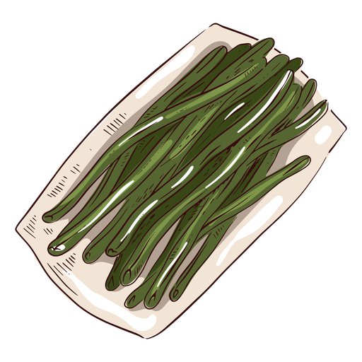 Green beans illustration thanksgiving Transparent PNG