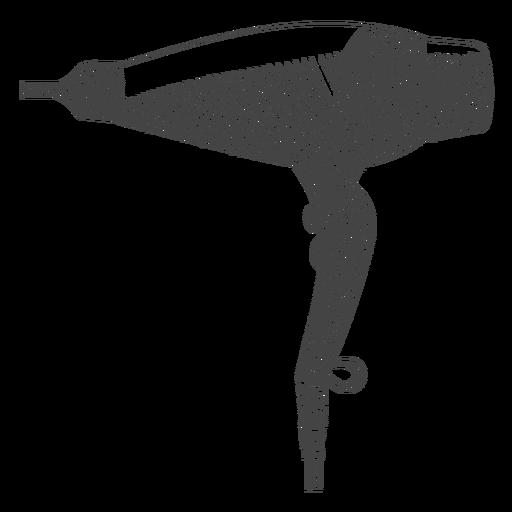 Hair dryer hand drawn hair dryer