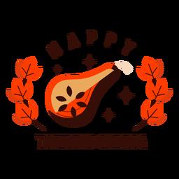 Feliz día de acción de gracias insignia de butternut acción de gracias