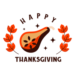 Happy thanksgiving butternut badge thanksgiving