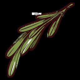 Hojas rama ilustración hojas ilustración