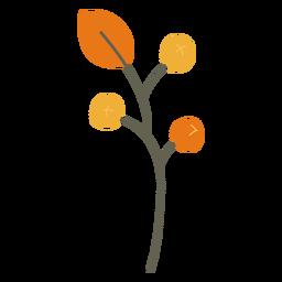 Blätter Dekoration Zweig flache Blätter