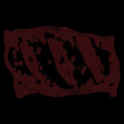 Loaf of bread hand drawn bread