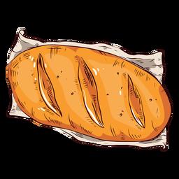 Hogaza de pan pan de ilustración