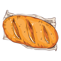 Loaf of bread illustration bread