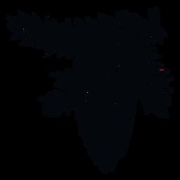 Ilustração de pinha preta e branca pinha
