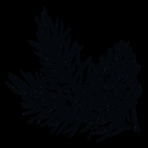 Rama de piña piña blanca y negra Transparent PNG