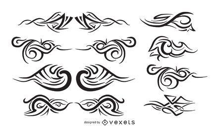 Tatuagem tribal definir vetores livres
