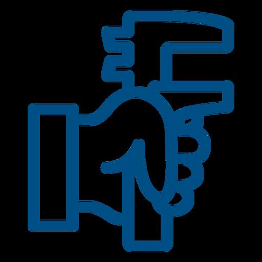 Icono de trazo de llave de tubo trazo de llave de tubo