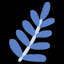 Pflanzenzweig flache Pflanze