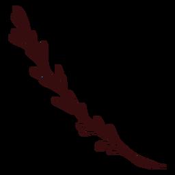 Planta rama planta dibujada a mano