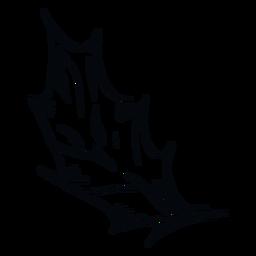 Folha pontiaguda ilustração em preto e branco
