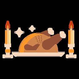 Prepared turkey flat turkey