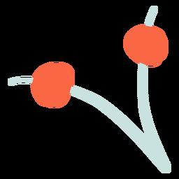Rote abstrakte Pflanze flache Pflanze