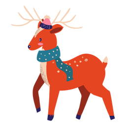 Reindeer with scarf illustration reindeer