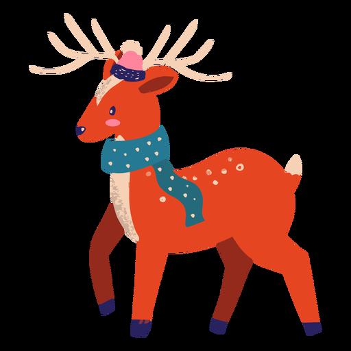 Reindeer with scarf illustration reindeer