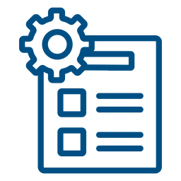 Settings list stroke icon settings