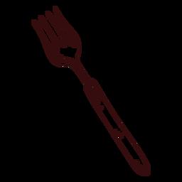 Tenedor afilado tenedor dibujado a mano