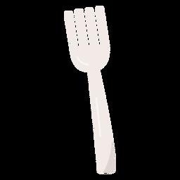 Tenedor plano tenedor plateado