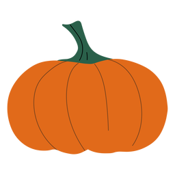 Simple orange pumpkin flat pumpkin