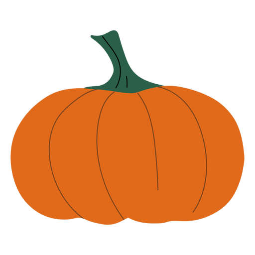Simple orange pumpkin flat pumpkin Transparent PNG