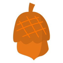 Simple tree acorn flat acorn