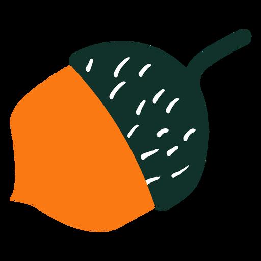 Bellota de ?rbol simple dibujado a mano bellota