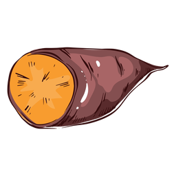 Ilustração de batata-doce fatiada