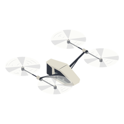 Small flying drone illustration drone