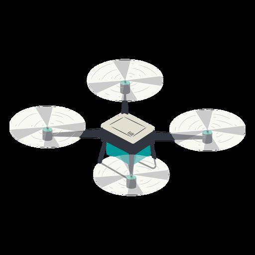 Pequeño drone quadcopter drone ilustración