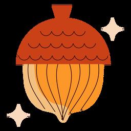 Sparkly acorn flat acorn