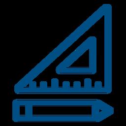 Regla de escuadrón y regla de icono de lápiz