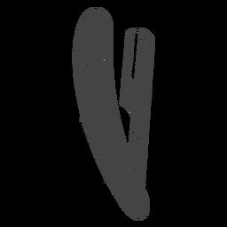 Navalha navalha desenhada à mão