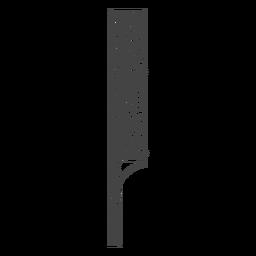 Maquinilla de afeitar dibujada a mano con cabeza de navaja recta