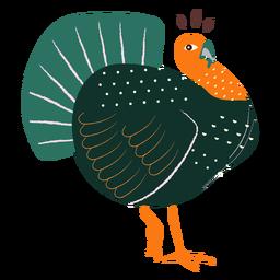 Surprised turkey hand drawn turkey
