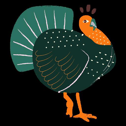 Surprised turkey hand drawn turkey Transparent PNG