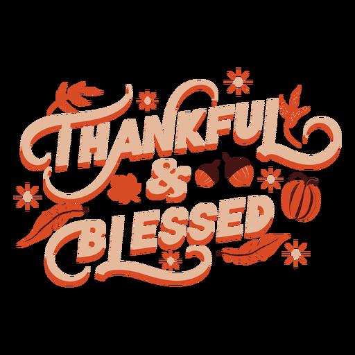 Grato e abençoado letras de ação de graças
