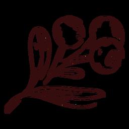 Acción de gracias rama de arándanos dibujados a mano acción de gracias