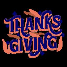 Letras de feriado de Ação de Graças