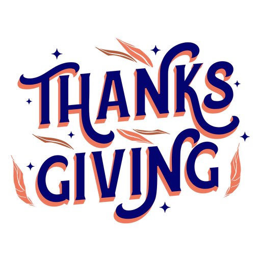 Thanksgiving holiday lettering thanksgiving