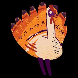 Turquía pavo con textura animal
