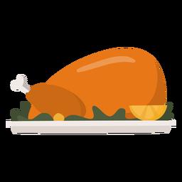 Turkey dish flat thanksgiving