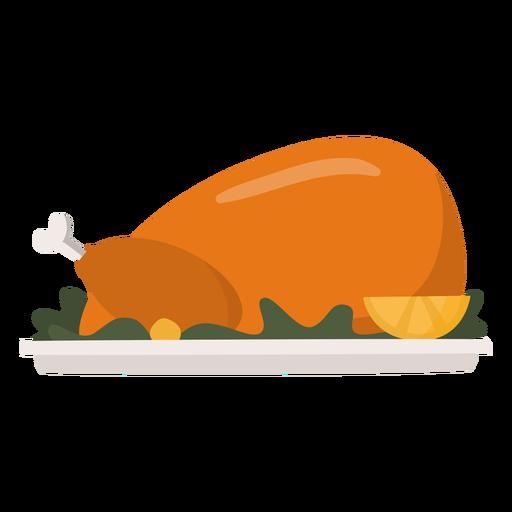 Turkey dish flat thanksgiving Transparent PNG