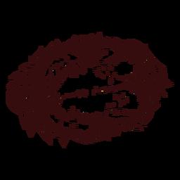 Plato de pavo dibujado a mano acción de gracias