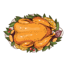 Turkey dish illustration thanksgiving