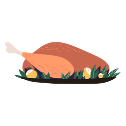 Turkey dish served illustration turkey
