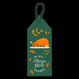 Turkey gratitude tag thanksgiving
