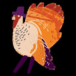 Turkey wearing a hat textured turkey