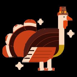 Turkey with hat flat turkey