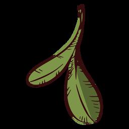 Zwei Blätter Dekoration Illustration Blätter